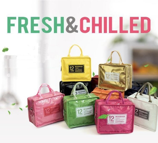 Wholesale new candy color waterproof thermal insulation bag lunch box packing Lunch BaoBing bag box wholesale