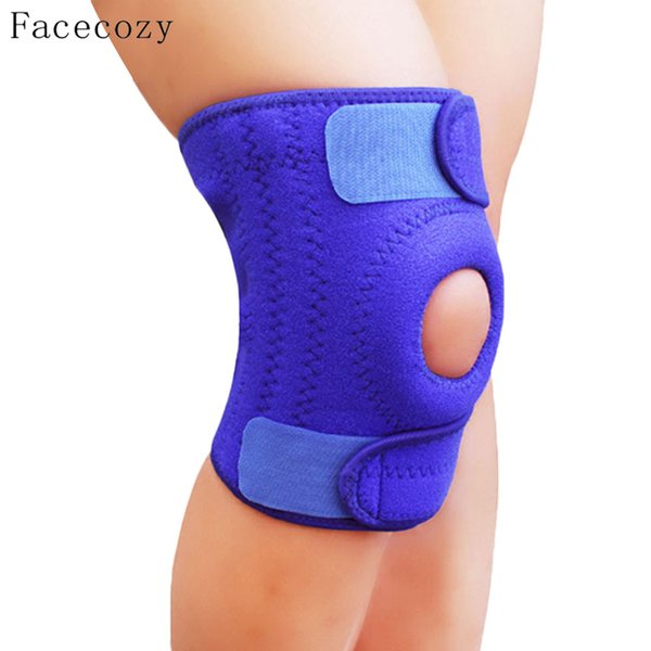 Facecozy Unisex 4 Springs Support Climbing Kneepad Prevent Joint Injury Knee Guard Outdoor Sports Safety Cycling Protector Knee Cap