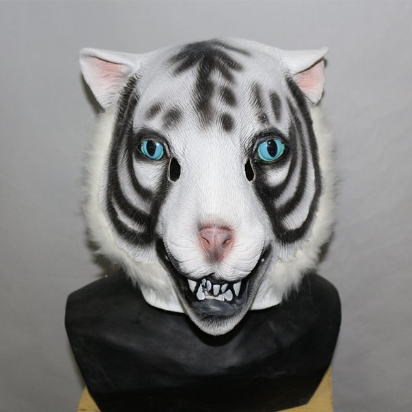 2018 Top Selling Lively Tiger Animal Latex Mask For Halloween Costumes Party Cosplay Decoration