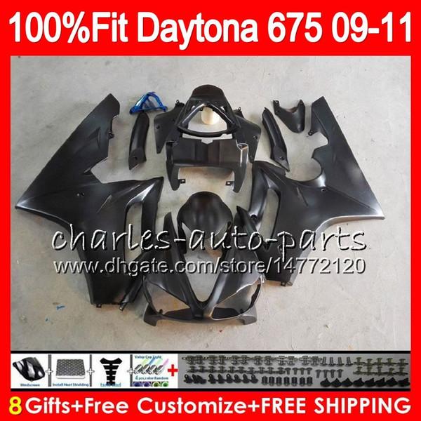 Injection For Triumph Daytona 675 09 10 11 12 Bodywork 107HM.13 Daytona-675 Matte black Daytona675 Daytona 675 2009 2010 2011 2012 Fairing
