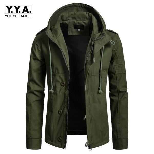 079e1544e181 Jaqueta Masculina Hooded Jackets For Men Green Mens Clothing Loose  Windbreaker Cotton Mens Winter Jacket 2018
