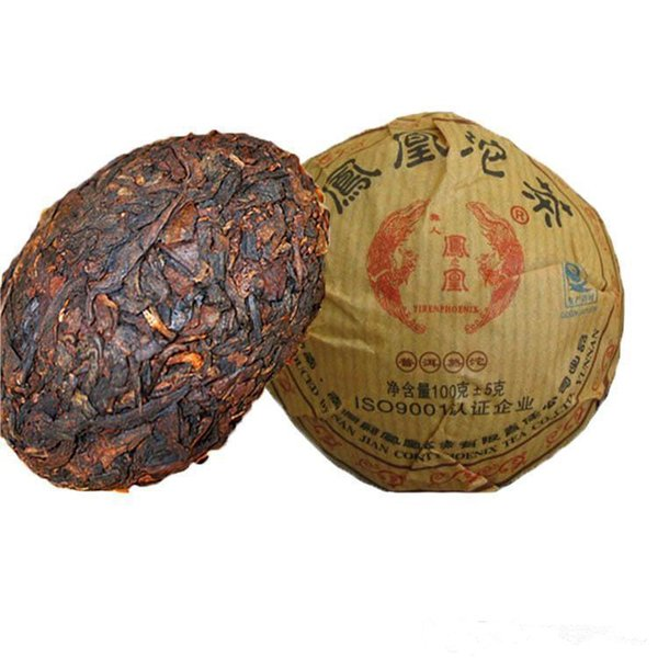 top popular Preferred 100g Yunnan Classic Ancient Tree Puer Tea Cake Ripe Puer Organic Natural Pu'er Tea Old Tree Cooked Puer Black Puerh Tea 2019