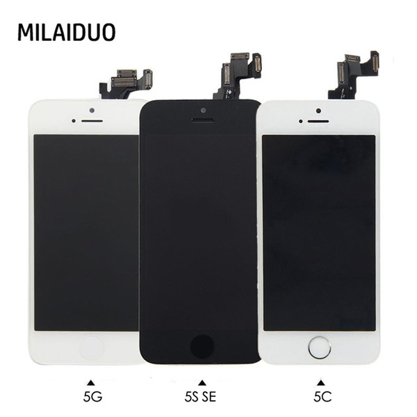 For iPhone 5 5s se 5c LCD Touch Screen Digitizer Full Replacement Home Button+Front Camera+Ear Speaker Pre-Assembled