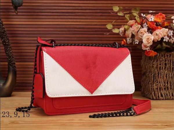 Borse a tracolla a catena moda Nuova borsa a spalla fiore in perline con fiore in pelle di alta qualità, piccola borsa dolce per le donne