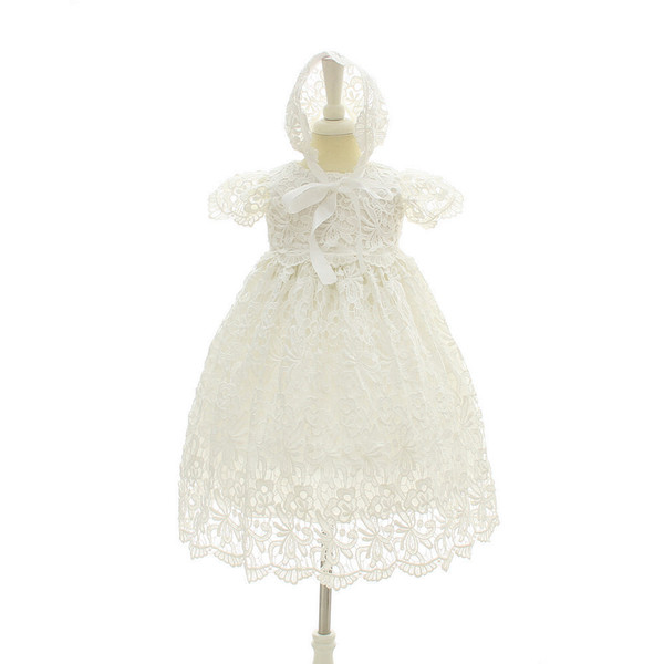 Baptism Baby Dress Wedding Outfit Formal Baby Girl Lace Dresses Birthday 1 Year Baby Christening Gowns Summer 2018