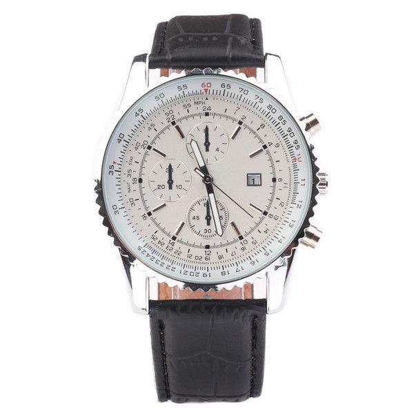 Luxury Mens Brown Tachymeter Date Leather Sport Quartz Wrist Watch Fashion Swiss Design Brand Watch high quality Business Watch Fashion Mech