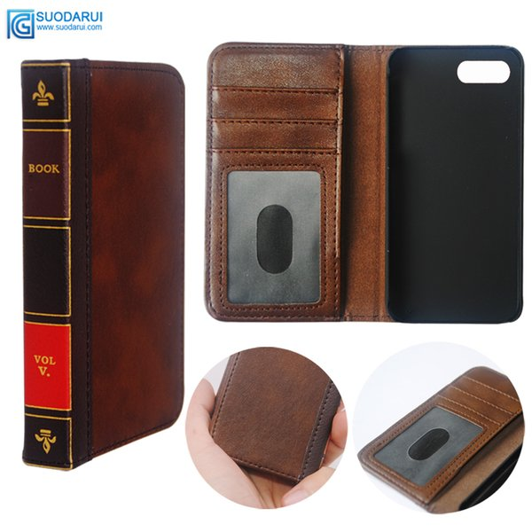 Custodia per telefono cellulare Flip in pelle per Black Berry key 2 Cover Wallet Retro Bible Vintage Book Business Pouch