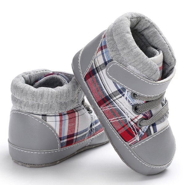 Raise Young Spring Autumn Canvas Baby Boy First Walkers Soft Soles Non-slip Newborn Boys Shoes Toddler Prewalkers 0-18M