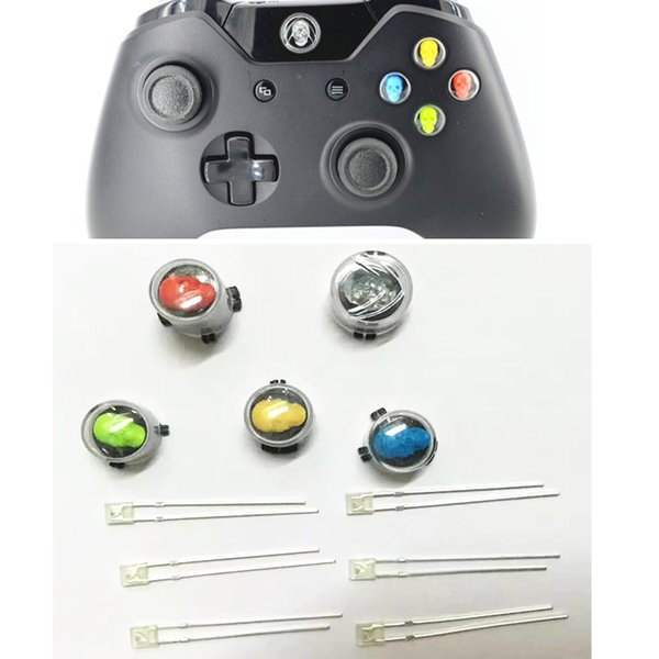 Custome DIY Replacement Parts Skull Style XBI ABXY LED Light Buttons for Xbox one Xboxone (5pcs+5) Fashionable Cool Newest