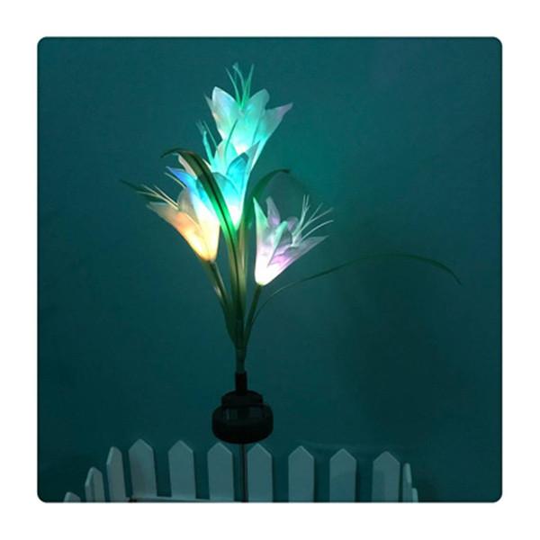 MaxSale Solaire LED Lumière De Fleur De Lys Lumière Blanche Couleur Économie D'énergie LED Lampe Pour Jardin Et Salon Vente Chaude
