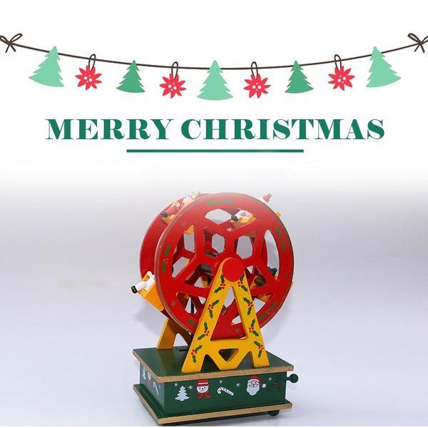 Christmas Ferris Wheel Music Box.Ferris Wheel Christmas Music Box 2017 New Creative Elaborate Wooden Music Box Music Bell Christmas Decoration Scene Kids Christmas Toys Best Christmas
