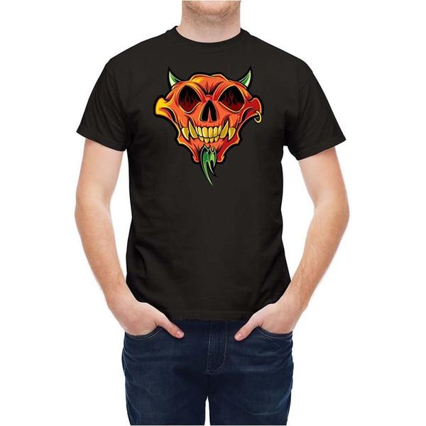 Tshirt Diabolo Evil Kafatası Karikatür T Shirt Erkek Unisex Yeni Moda Tshirt Ücretsiz Kargo En Ajax 2018 Komik T Shirt% 100% Pamuk