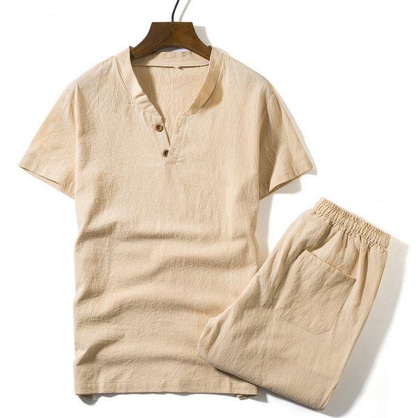 Magliette + Pantaloncini Estate Marca Tshirt Uomo Leggero Traspirante Spiaggia Casual Set S-5XL 2018 T-Shirt Abiti Maschili Moda Abiti Uomo 2 PZ