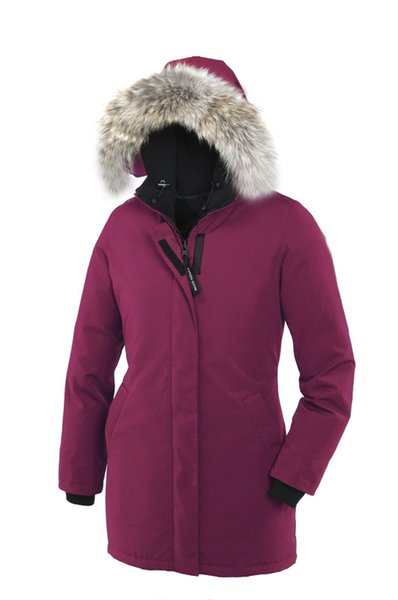 DHL delivery E16 Goose Women Victoria Parka More Than 90% White Goose Down High Quality Long Fashion Warm Down Jacket