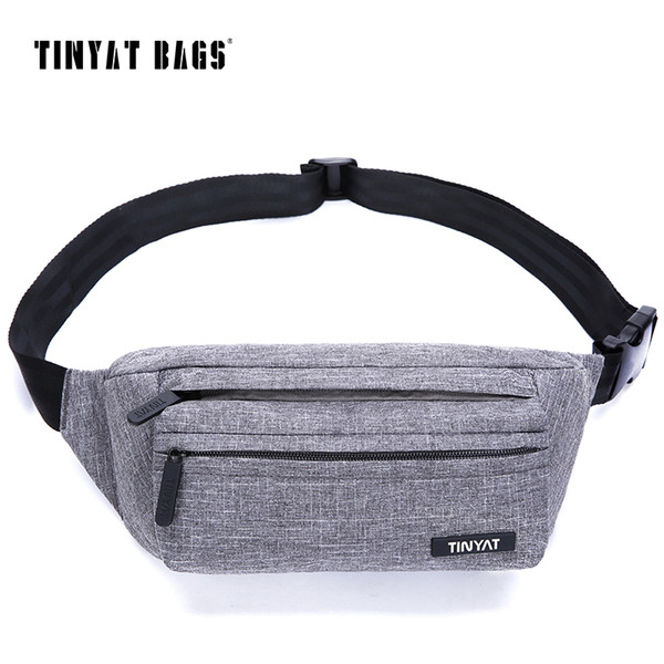TINYAT Men Waist Bag Pack Super Light Belt Pack Pouch Women Adjustable Shoulder belt bag Phone Fanny Travel Hip