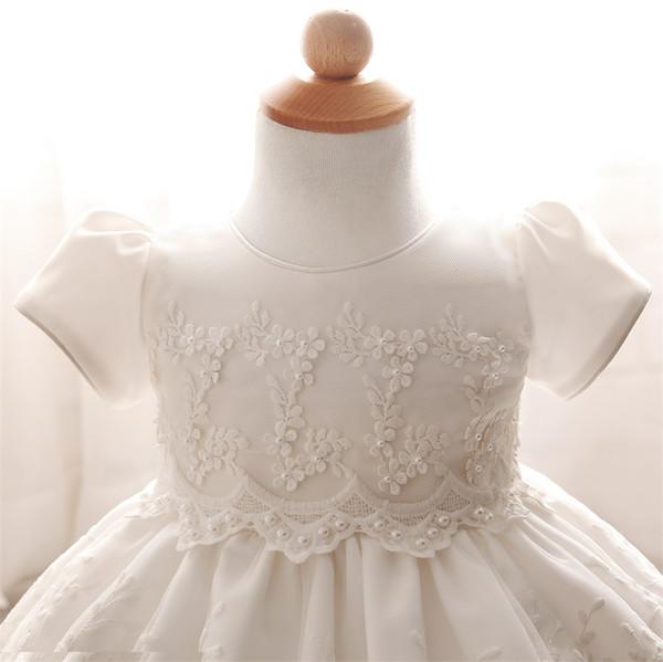 Acheter Dentelle Crochet Robe De Baptême Pour Enfant Fille Robe De Mariée Blanche Premier Anniversaire Tenue Bébé Fille Tutu Robe Dété Enfants