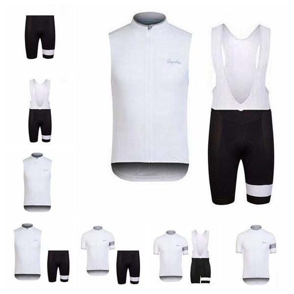 2018 Rapha new summer mountain bike short-sleeved cycling jersey kit breathable quick-dry men riding shirts bib shorts set 90717Y