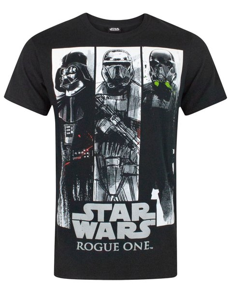 Tops Summer Cool camiseta divertida Rogue One Character Panels camiseta de hombre Summer Short Sleeves Cotton camiseta de moda