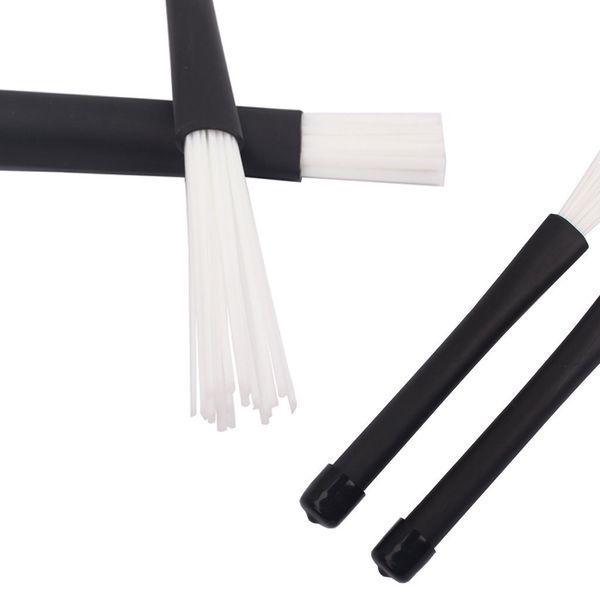 best selling Telescopic Retractable Handles Percussion Drum Brushes Sticks (Black+White)-MUSIC