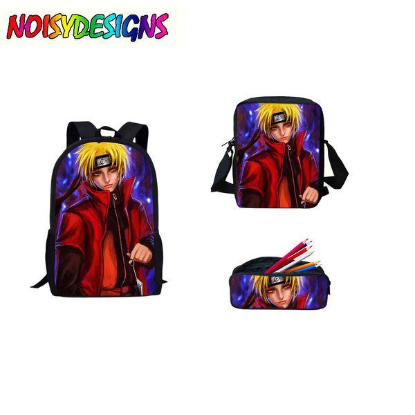 Anime Naruto School Bag Teens Boys Girl Students Back to School Book Bag Laptop Backpack Naruto Printing Backpack Dropshipping