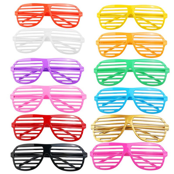 0aa5236d268 24 Pairs of Fashion Plastic Shutter Shades Glasses Sunglasses Eyewear  Halloween Club Party Cosplay Props (