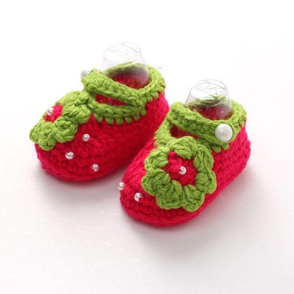 TELOTUNY baby gir boy First Walkers Kid Shoes Knitted baby shoes flower Girls Crochet Handmade Knit Z1004