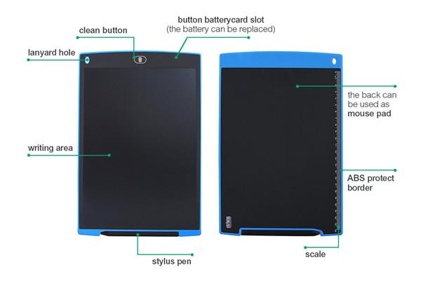 4.4 pollici LCD digitale Blocco Note Disegno BAMBINI DISEGNO GIOCATTOLO EDUCATIVO scrivere pad