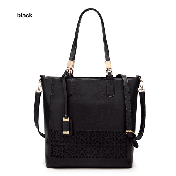 2018 new women's bags, European and American cross border hollowing fashion bags, single shoulder slanting PU leather retail wholesale hand