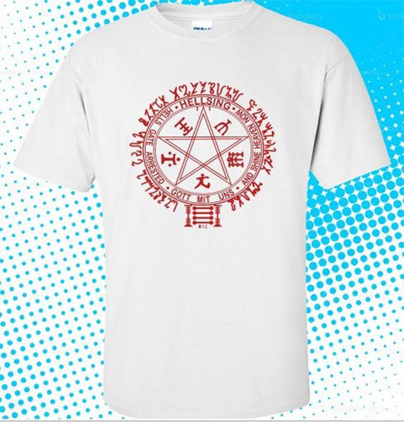 Nouveau T-shirt Homme Blanc Logo Hellsing Manga Blanc taille S à 3XL
