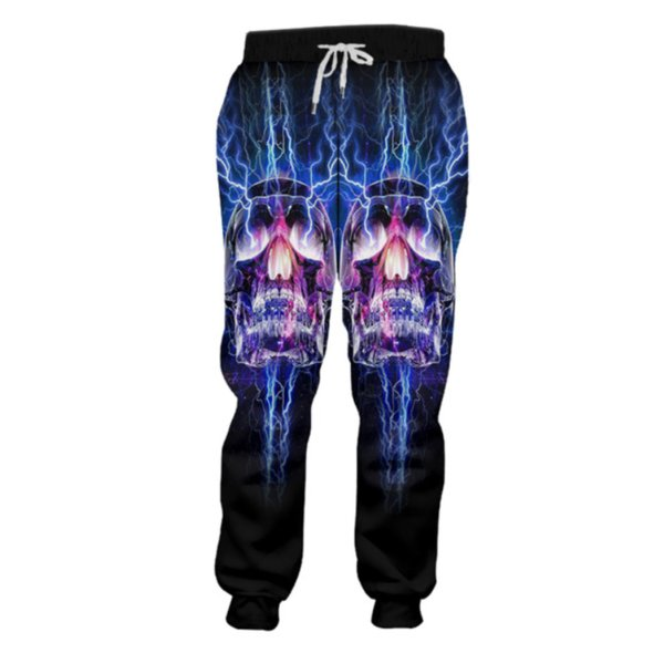 New style Fashion skull 3d Printing Mens/Womens casual joggers pants y57