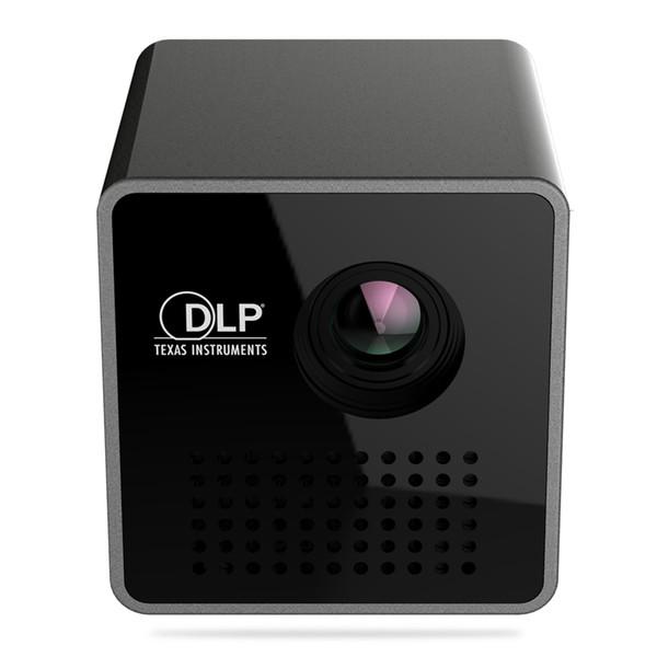 DropshipUNIC P1 + P1 Artı WIFI Kablosuz Cep LED Pico Akıllı Mi Taşınabilir Ev Sineması Projektör için 30 Lümen DLP