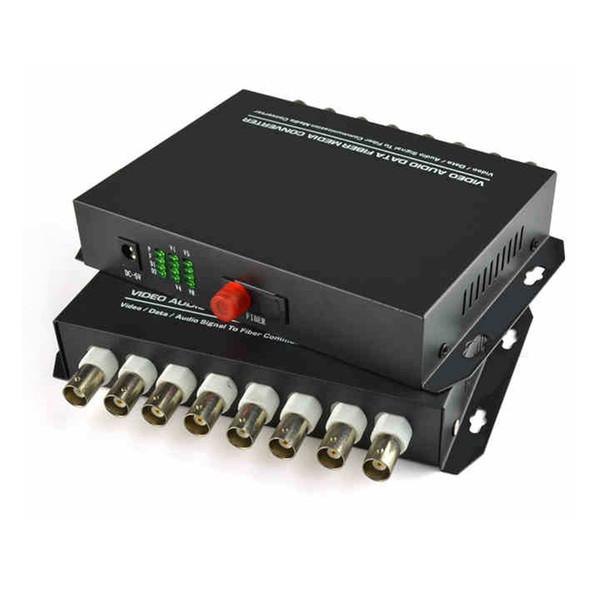 8 Kanal Digital Video Optical Fiber Medienkonverter Sender / Empfänger Für Sicherheitssystem CCTV-Kameras