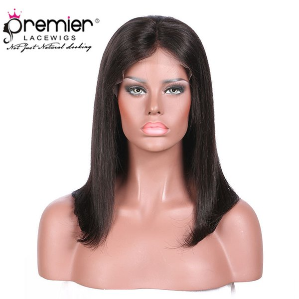 Full Lace Human Hair Wigs Yaki Straigt Pre-plucked with Baby Hair Brazilian Hair Natural Hairline With Babyhair