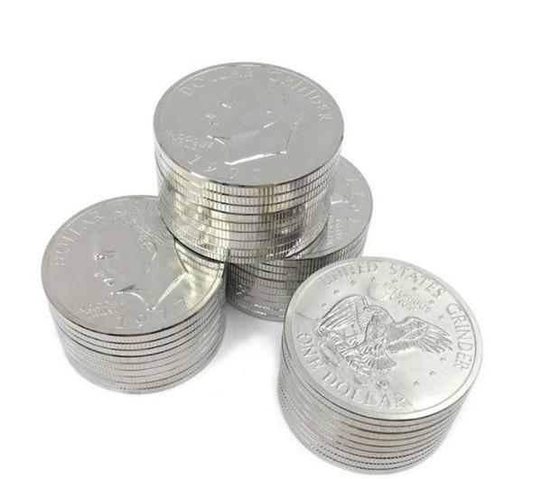 Creative coin smoking machine zinc alloy diameter 52mm cigarette cutter Canadian dollar metal smoking set