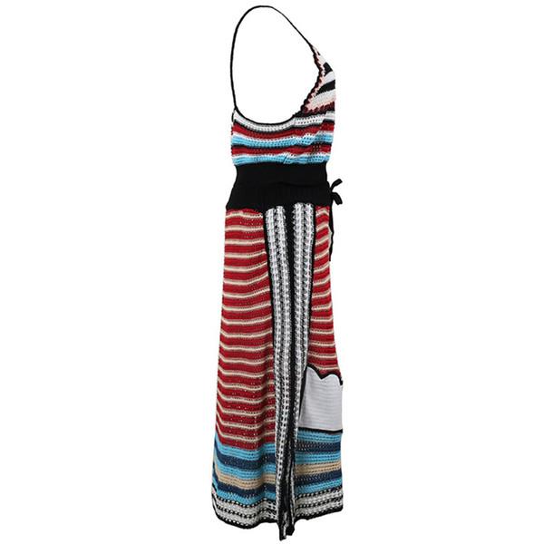 Compre Chicever Summer Striped Women Set De Dos Piezas Strapless ...
