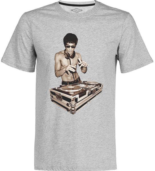 DJ Bruce Lee Die Boxlegende Vintage Kung Fu T-Shirt Mode DJ Musik T Tops