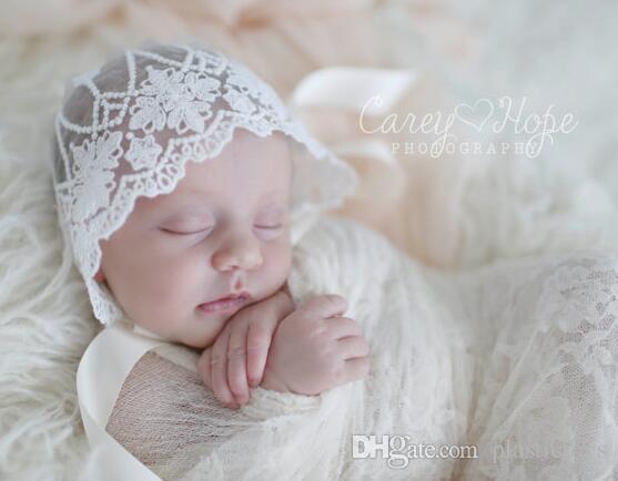Chapéu recém-nascido Gorros Doce coração bebê Rendas chapéus de Maternidade 2017 Outono rendas gorro Listrado Europeu primavera qualidade atacado 0-3 meses