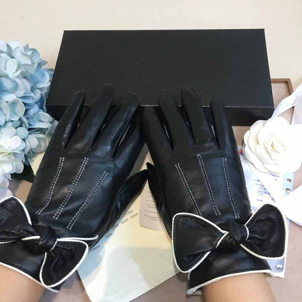 Wholesale prices Women Winter Keep Warm Glove Imitation Leather Lacquer Surface Mittens Waterproof Non Slip Five Fingers Gloves