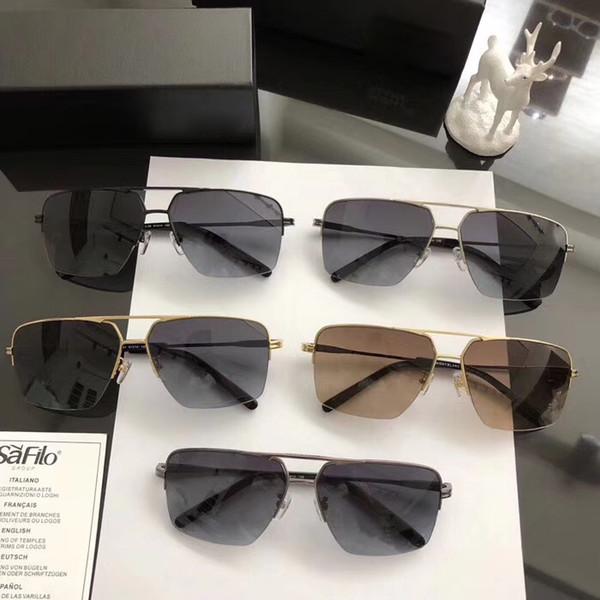 Diseñador de la marca de alta calidad gafas de sol de la mariposa hombres espejo retro marco de metal gafas de conducción gafas de sol sombras 400 uv