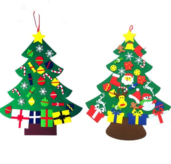 Christmas Tree Toys Decoration.Diy Xmas Tree Non Woven Fabric Christmas Tree Wall Hanging Decoration Xmas Tree Toys For Parent Child Gifts For Christmas Christmas Toy Donations The