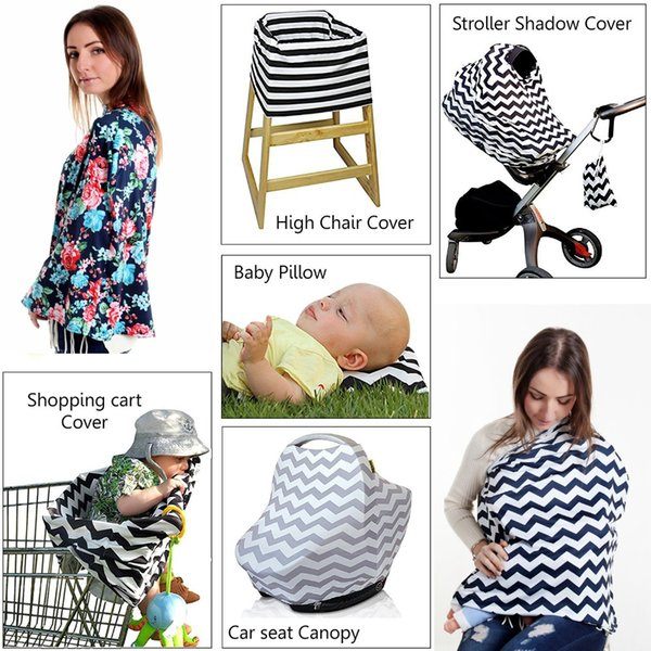 Peachy 2019 2018Baby Feeding High Chair Cover Multifunctional 5 In 1 Baby Car Seat Cover Canopy Striped Infant Shopping Cart Nursing Cover Ari 908 From Evergreenethics Interior Chair Design Evergreenethicsorg