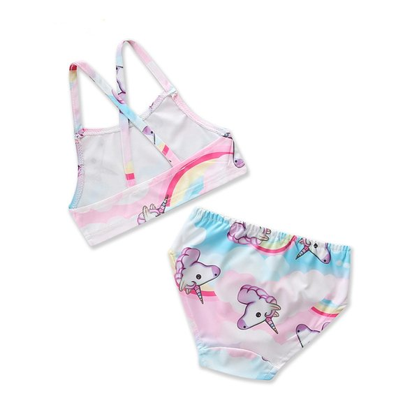004c41eb9cba8 baby girl swimsuit 2018 summer new swimming children s clothing unicorn  cartoon cute girls two-pieces