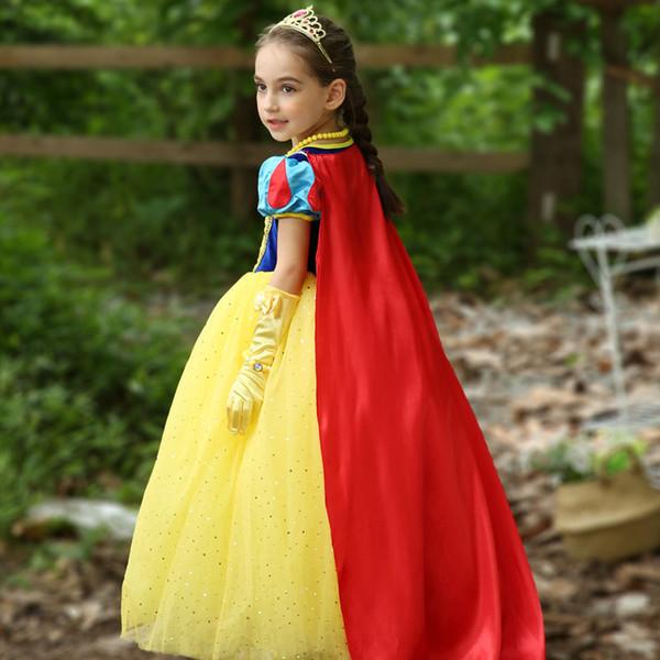 Compre Halloween Christmas Girls Cosplay Disfraces Princesa Blancanieves Para Niñas 4 6 8 10 Años Vestido De Princesa Niños A $18.39 Del Yiwulei_store