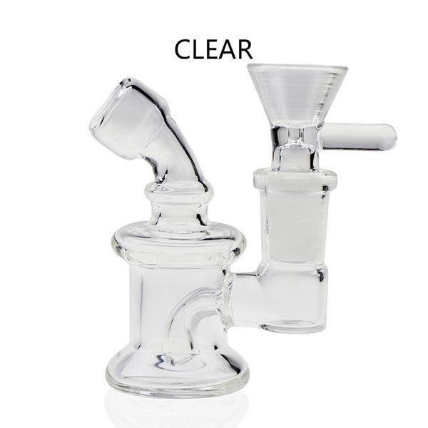 New 3.3 Inch Beaker Bong With Bowl 4 Colors 14mm Female Mini Recycler Dab Rig Heady Glass Dab Rigs Pyrex Glass Bongs