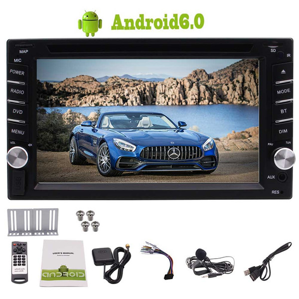 Eincar Double 2 Din Android 6.0 Car dvd Stereo 6.2'' Touch Screen Head Unit Quad Core 1GB 16GB GPS Navigation Bluetooth