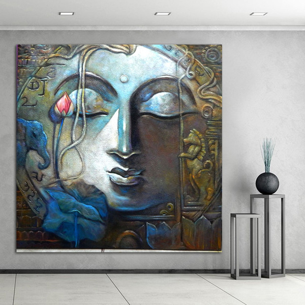 Buddha Painting Canvas Art Home Decor Wall Art Oil Painting Wall Picture Living Room Large Posters Modern Print No Frame