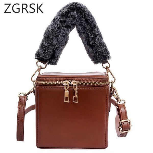 30cc94963bb Winter Bucket Designer Women Shoulder Bags Pu Leather Handbags Female  Elegant Ladies Crossbody Messenger Luxury Small Bag