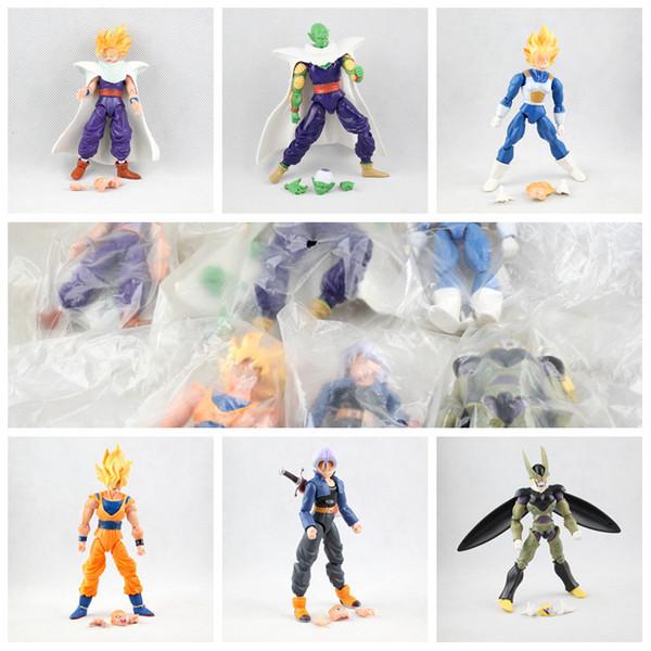 30 adetDHL dragon ball 6 adettakım Dragonball Z Dragon Ball DBZ Anime 15 cm Goku Vegeta Piccolo Gohan süper saiyan Ortak Action Figure Oyuncak instock