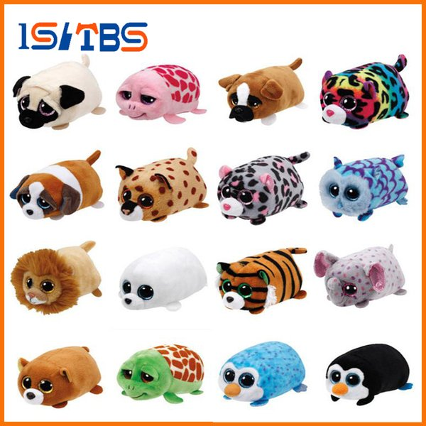 Beanie Boo teeny tys Plush - Icy the Seal 9cm Ty Beanie Boos Big Eyes Plush Toy Doll Purple Panda Baby Kids Gift