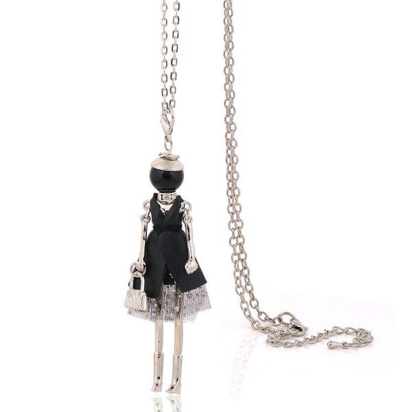 Statement süße Puppe Halskette Mode lange Ketten Halsketten Frauen Schmuck Zubehör Vintage Anhänger weiblichen Bijoux großen Halsband